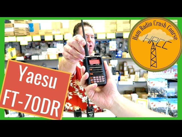 Yaesu FT-70DR Introduction and Programming