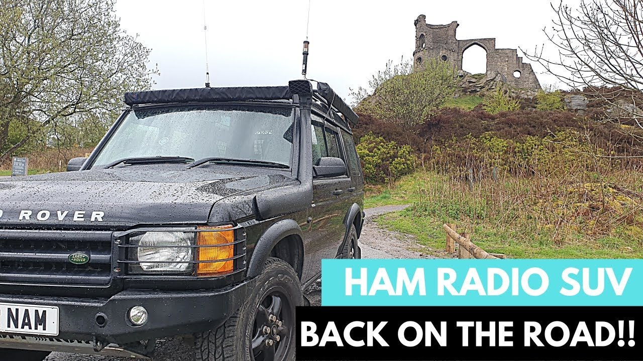 First spin of the Land Rover, HAM RADIO and Baby Tarheel antenna